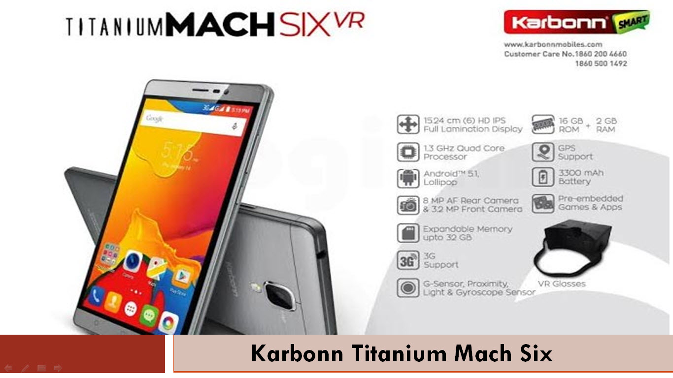 Karbonn Titanium Mach Six