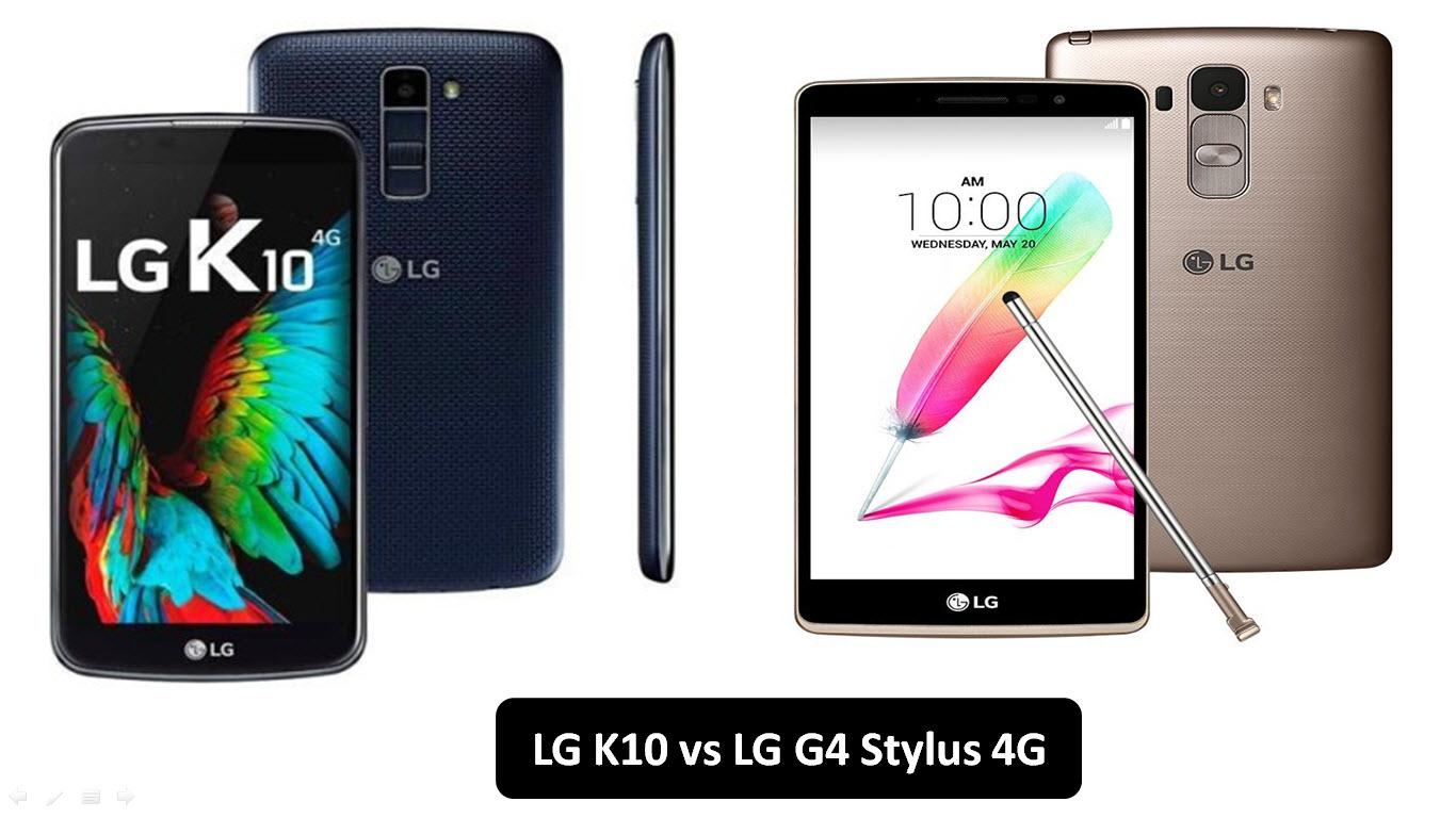 LG K10 vs LG G4 Stylus 4G