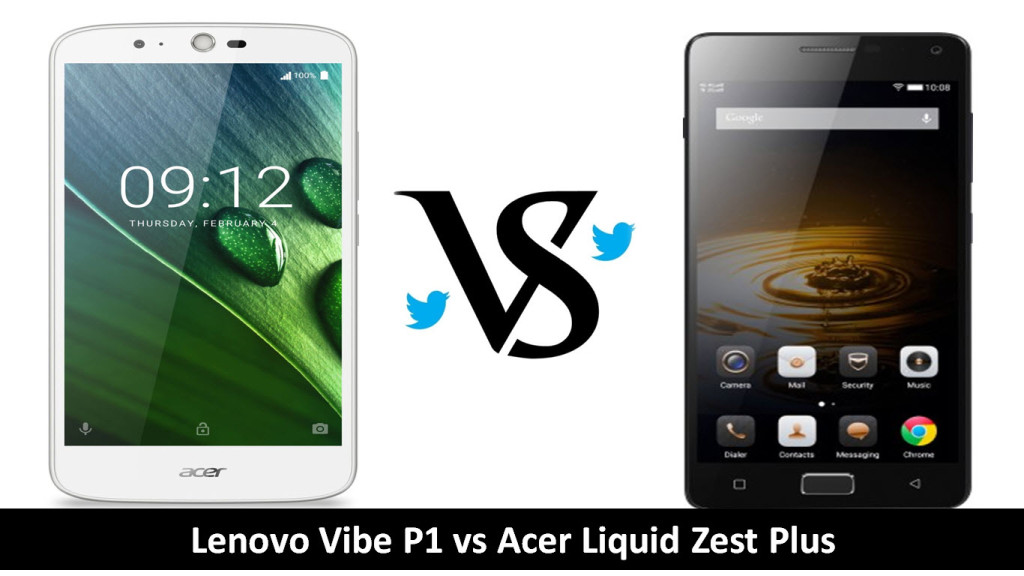 Lenovo Vibe P1 vs Acer Liquid Zest Plus